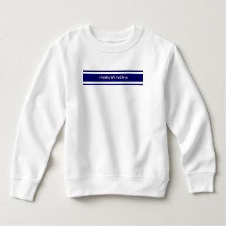 HAMbyWhiteGlove Toddler White/Royal Fleece Sweat Sweatshirt