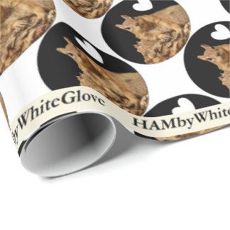 HAMbyWhiteGlove Wrapping Paper - Squirrel B/W Logo