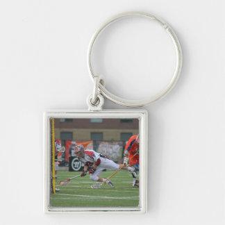 HAMILTON, CANADA - AUGUST 6: Pat Heim #3 Silver-Colored Square Key Ring
