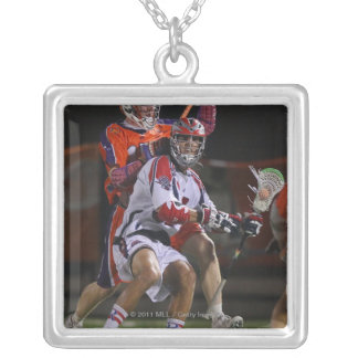 HAMILTON, CANADA - AUGUST 6: Paul Rabil #99 Silver Plated Necklace