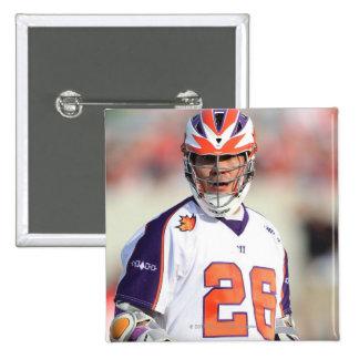 HAMILTON,CANADA - JULY1:  Brett Bucktooth #26 15 Cm Square Badge