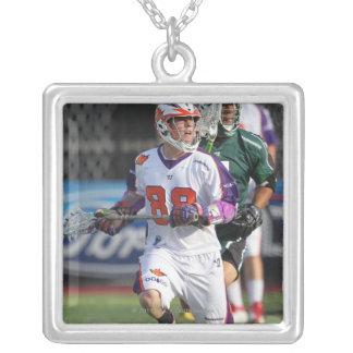 HAMILTON,CANADA - JULY1:  Brice Queener #88 Silver Plated Necklace