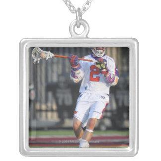 HAMILTON,CANADA - JULY1:  Jeremy Boltus #2 2 Silver Plated Necklace