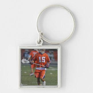 HAMILTON, CANADA - JUNE 18:  Dan Burns #15 Silver-Colored Square Key Ring