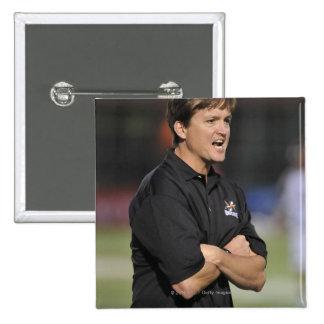HAMILTON, CANADA - JUNE 18:  Head Coach Tom 15 Cm Square Badge