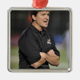 HAMILTON, CANADA - JUNE 18:  Head Coach Tom Silver-Colored Square Decoration