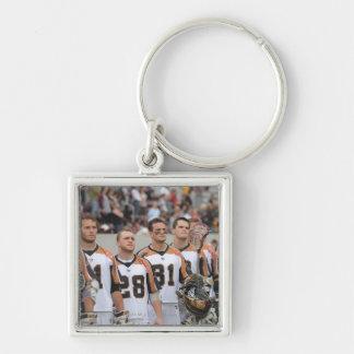 HAMILTON, CANADA - JUNE 25: Members Silver-Colored Square Key Ring