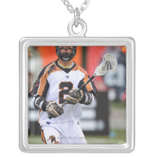 HAMILTON, CANADA - JUNE 25: Ned Crotty #2 5 Silver Plated Necklace