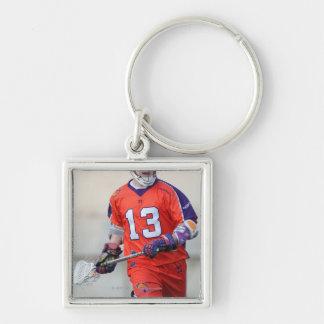 HAMILTON, CANADA - MAY 19:  G. Billings #13 4 Silver-Colored Square Key Ring