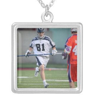 HAMILTON, CANADA - MAY 19:  Kyle Hartzell #81 Silver Plated Necklace