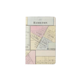 Hamilton, Carthage, Bushnell, Lincoln and LaHarpe Pocket Moleskine Notebook