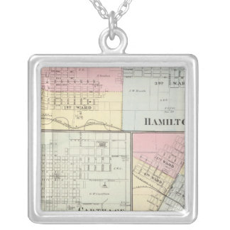 Hamilton, Carthage, Bushnell, Lincoln and LaHarpe Silver Plated Necklace
