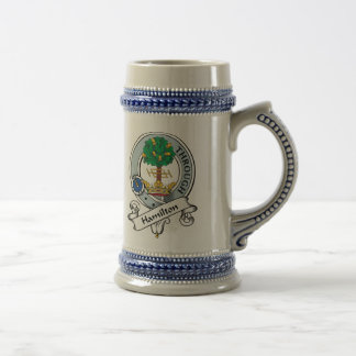 Hamilton Clan Badge Beer Stein