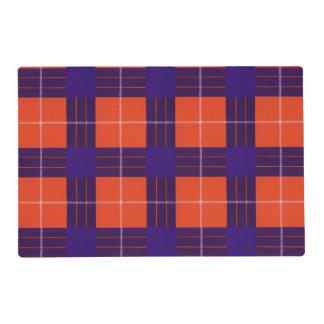 Hamilton clan Plaid Scottish tartan Laminated Placemat