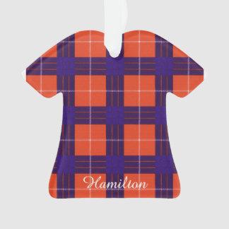 Hamilton clan Plaid Scottish tartan Ornament