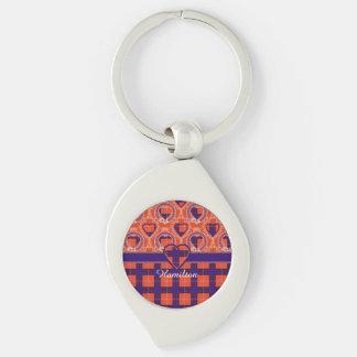 Hamilton clan Plaid Scottish tartan Key Chain