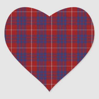 Hamilton Clan Tartan Heart Sticker