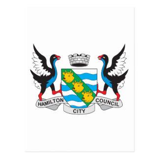 Hamilton Coat Of Arms Postcard