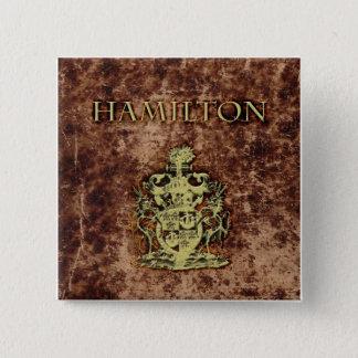 Hamilton Crest 15 Cm Square Badge
