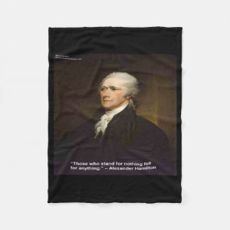 "Hamilton ""Fall For Anything"" Quote Fleece Blanket"