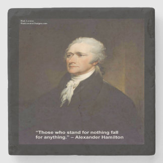 """Hamilton """"Fall For Anything"""" Quote Marble Coaster"""