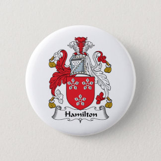 Hamilton Family Crest 6 Cm Round Badge
