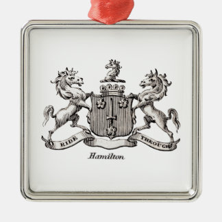 HAMILTON FAMILY CREST CHRISTMAS ORNAMENT