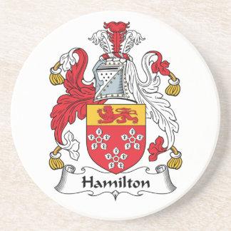Hamilton Family Crest Coaster