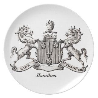 HAMILTON FAMILY CREST DINNER PLATES