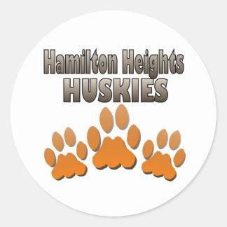 Hamilton Heights Huskie Paws Classic Round Sticker