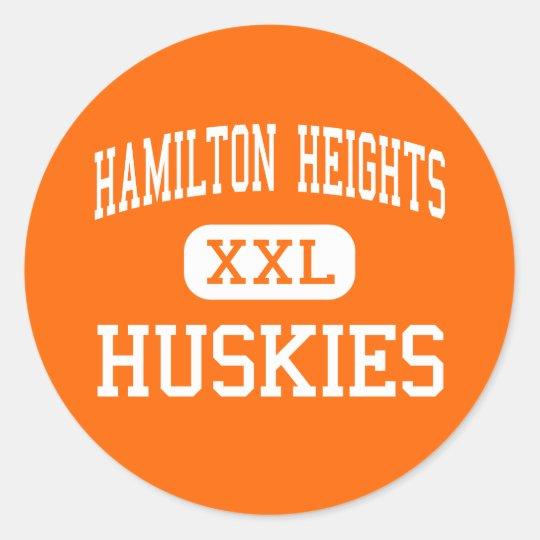 Hamilton Heights - Huskies - High - Arcadia Classic Round Sticker