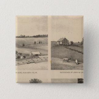 Hamilton, Landes, Yates residences, Horseshoe Farm 15 Cm Square Badge