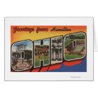 Hamilton, Ohio - Large Letter Scenes Card