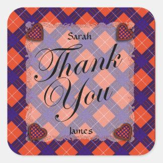 Hamilton Scottish clan tartan - Plaid Sticker