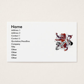 Hamilton Tartan Lion Business Card
