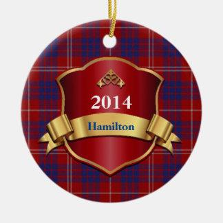 Hamilton Tartan Plaid Custom ornament