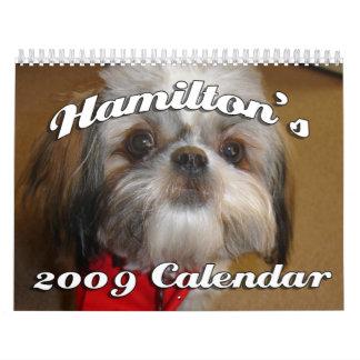 Hamilton the Shih Tzu's Calendar - Customized
