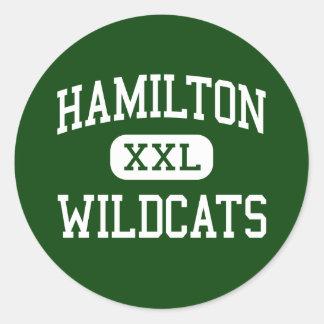 Hamilton - Wildcats - High - Milwaukee Wisconsin Round Stickers