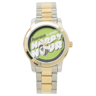 Hamish & Andy's Happy Hour Gold coloured watch! Wrist Watches