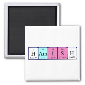 Hamish periodic table name magnet