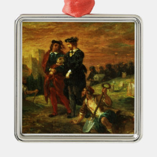 Hamlet and Horatio in the Cemetery, 1859 (oil on c Christmas Ornament