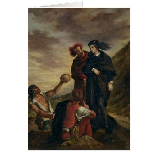 Hamlet and Horatio in the Cemetery Card