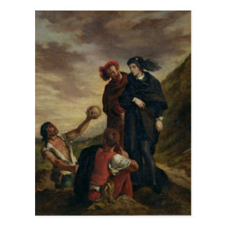 Hamlet and Horatio in the Cemetery Postcards