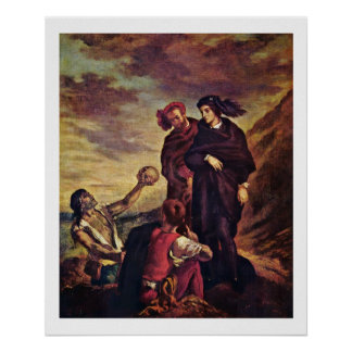 Hamlet And Horatio In The Graveyard Print