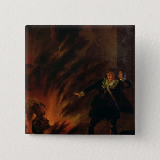 Hamlet and the Ghost of his Father 15 Cm Square Badge