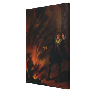 Hamlet and the Ghost of his Father Canvas Print