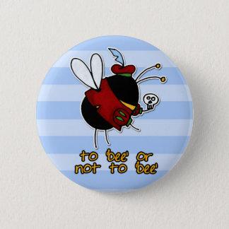 hamlet bee 6 cm round badge