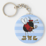 hamlet bee basic round button key ring