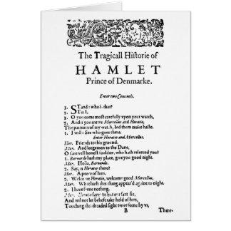 Hamlet Original Script Greeting Card
