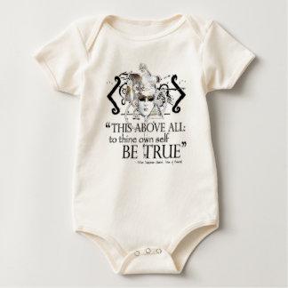 "Hamlet ""... own self be true ..."" Quote Baby Bodysuit"